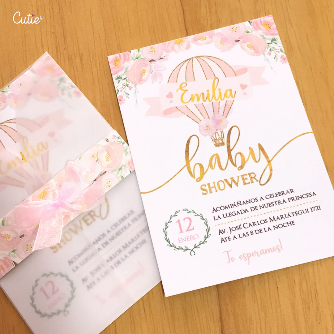12 Invitaciones Baby Shower Girl - Diseño e impresión de Tarjetas