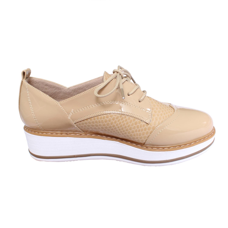 Zapatos Oxford Divine - Color Beige - Súper cómodas