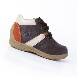 Calzado Botín Marrón/Naranja - 100% Cuero Premium