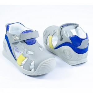 Calzado Elefantito Gris-Azul - 100% Cuero Premium