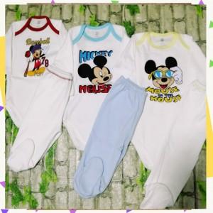 Body Y Pantalon Tripack Mickey - Pima