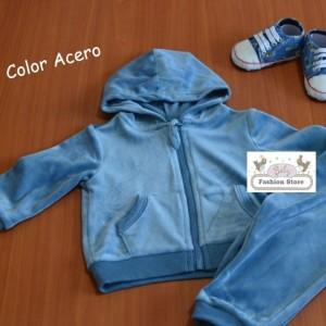 Buzo de terciopelo - Bebé Niña - Outfit Casaca y Pantalón - Ropa para bebés de 6 a 12 meses