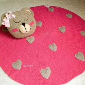 Alfombra rosa para niñas - Algodón orgánico