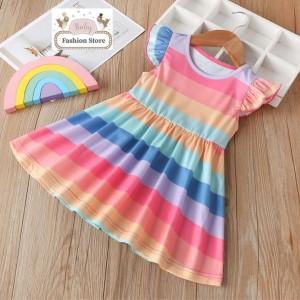 Vestido multicolor niña