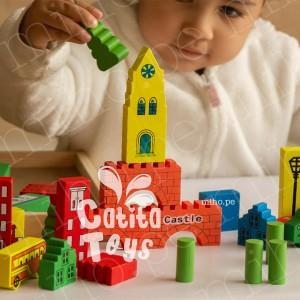 Bloques de Construcción Modelo Castillo - 2 años a más