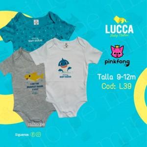 Pack body x3 - Baby Shark - Ropa para bebés