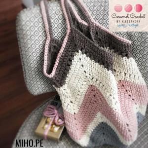 Bolso casual estilo romántico - Crochet