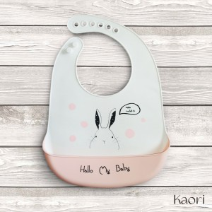 Lindos Baberos para niña - Cisne y conejita