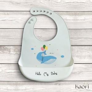 Lindos Baberos para niña y niño - Barco, elefante y ballena