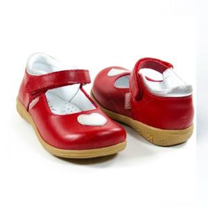 Balerinas de Cuero Rojo - Zapatos de Niñas