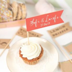Mini Banderín para decorar Cupcakes y Tortas - Personalizado