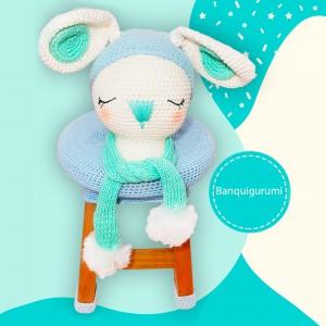 BanquiGurumi Conejito- Silla Banco - Amigurumi crochet - Regalo para niños