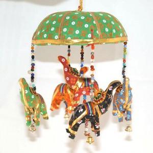 Móvil Carrusel Elefantes de la suerte - Estilo hindú