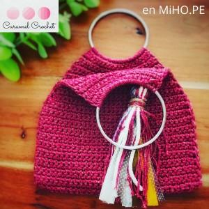 Bolso de mano Mini-llano - Técnica Crochet