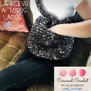 Bolso Juvenil - Diseño Versátil - Crochet