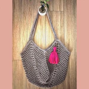 Bolso Casual Estilo Hippie - Crochet