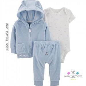 Set de 3 prendas Carters - Azul bebé