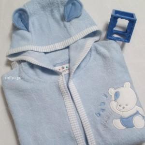 Bata de baño azul para bebé