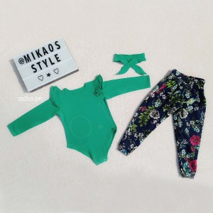 Conjunto Micaela color Verde - Talla 2, 6 - Ropa para bebés