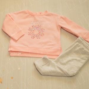 Conjunto Flor Rosa - Ropa para bebés de 9 meses