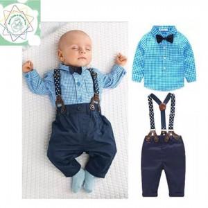 Conjunto con Tirantes para Bebé Hombre - Camisa y Pantalón