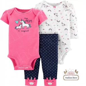 Conjunto 3 Unicornio - Ropa para bebés de 12 meses