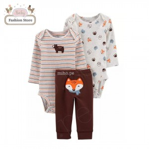 Set 3 piezas Zorrito Carters - Ropa para bebés de 24 meses