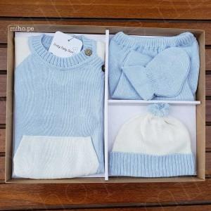 Conjunto de Hilo Azul - Ropa para bebés de 0 a 3 meses