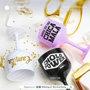 Copas Gin Acrílicas - Personaliza con tu nombre, foto, frase o logotipo - Merchandising