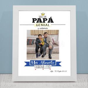 Cuadro Personalizado - Collage de Fotos para Papá y Abuelo - Regalo