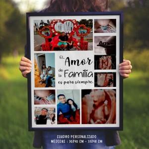 Cuadro Personalizado - Collage de Fotos de Familia - Regalo