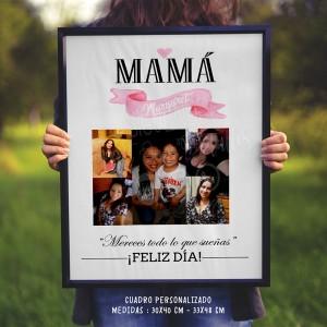 Cuadro Personalizado - Collage de Fotos para Mamá - Regalo