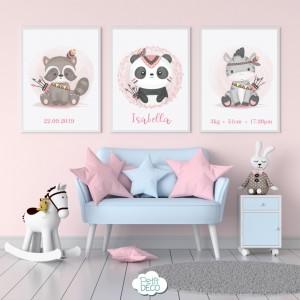 Cuadros Decorativos Infantiles - Baby Girl - Personalizado con el nombre de tu bebé
