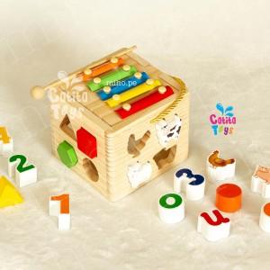 Cubo de Encaje con Xilófono - Juguetes para niños
