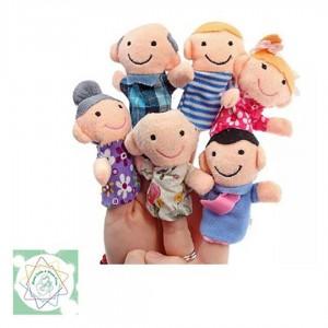 Títeres de Dedos Familia 6 unidades - Juguete de estimulación para bebés