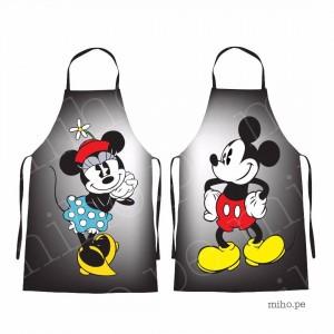 Delantales Mickey y Minnie Mouse - Para adultos y niños