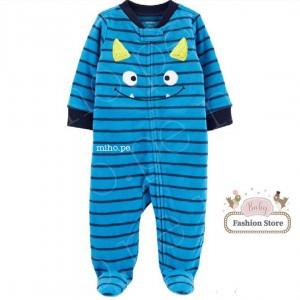 Enterizo Micro polar - Rayas azul Carters - Ropa para bebés de 9 meses