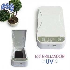 Esterilizador UV - Caja Multifuncional de Desinfección UV, Cargador Inalámbrico y Aromatizador