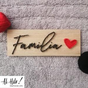 Palabra Familia - Cuadro Hilorama