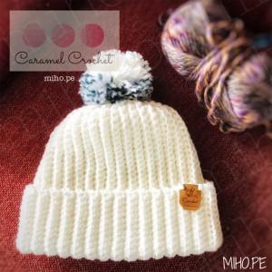 Gorro Nevada - Técnica crochet