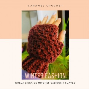 Mitones calientitos - Técnica Crochet