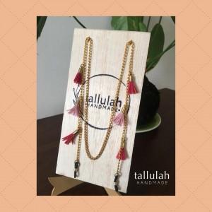 Holder con borlas - Color Rosado y Fucsia - Accesorio para Lentes