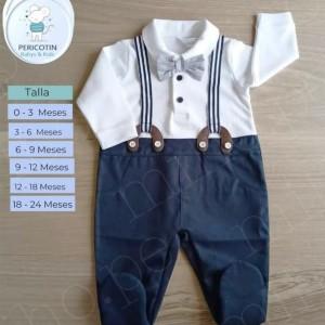 Enterizo Terno Azul - Ropa de bebé de vestir