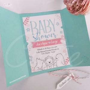 Invitación Baby Shower - Modelo Unisex - Personalizado con tus colores