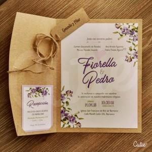 Invitación Boda - Rústico Romántico - Parte de Matrimonio