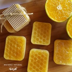 Jabones Naturales de Naranja, Miel y Arcilla Blanca - Belleza y Salud