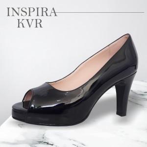 Zapatos de Charol - Color Negro y Beige