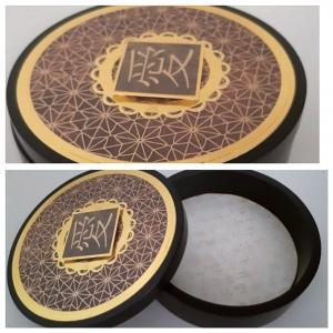 joyero de Madera Pino - Pintado al Duco - Estilo Dorado