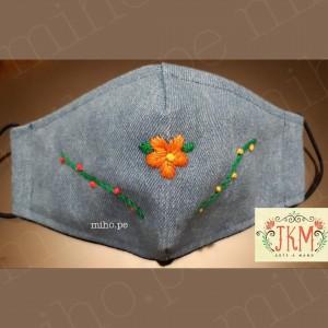 Mascarillas con Flores Bordadas - Diseños Originales
