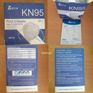 Mascarillas KN95 3d Respirador - 20 unidades Empaque individual